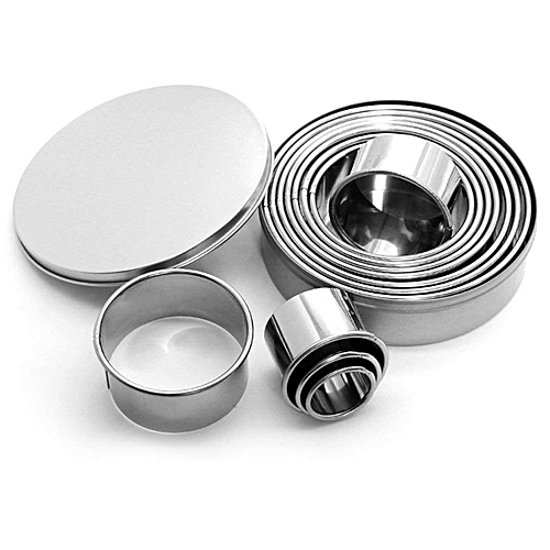 12PCS Cookie Cutters Stainless Steel Cookie Cutters Round Patisserie Cutters For Cookies Pasta With Sugar Cakes