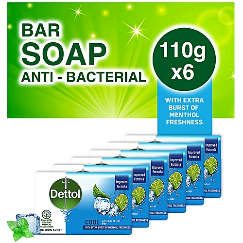 Anti- Bacterial Soaps 110g - Cool - Pack Of 6