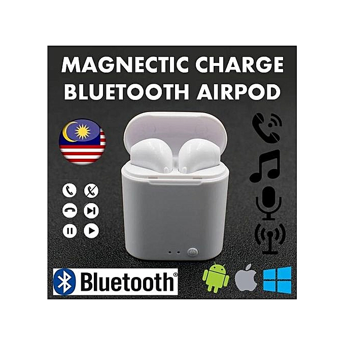 ad2c3ea7256 I7 Mini TWS Airpod Wireless Earbuds Magnetic Charging BluetoEarphone  Bluetooth Headset For Android Iphone High-