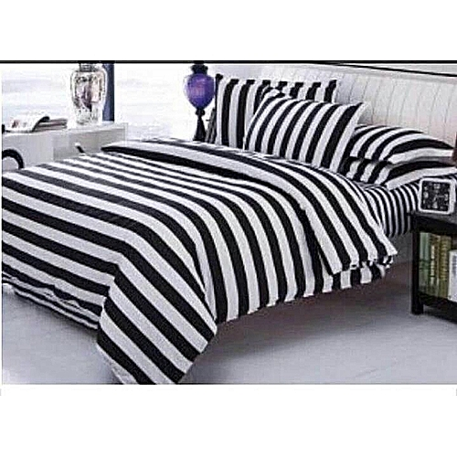Black And White Bedspread With Pillowcases