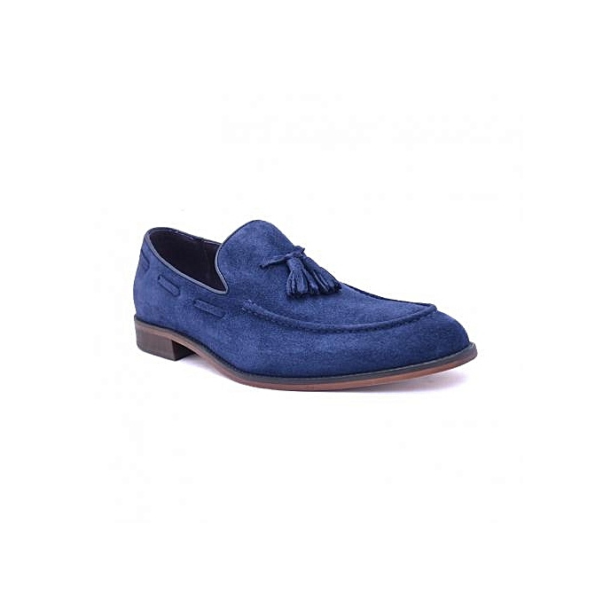 ceef8f4ee046a Christopher's Jeffery Tasseled Suede Loafers - Navy Blue | Jumia NG
