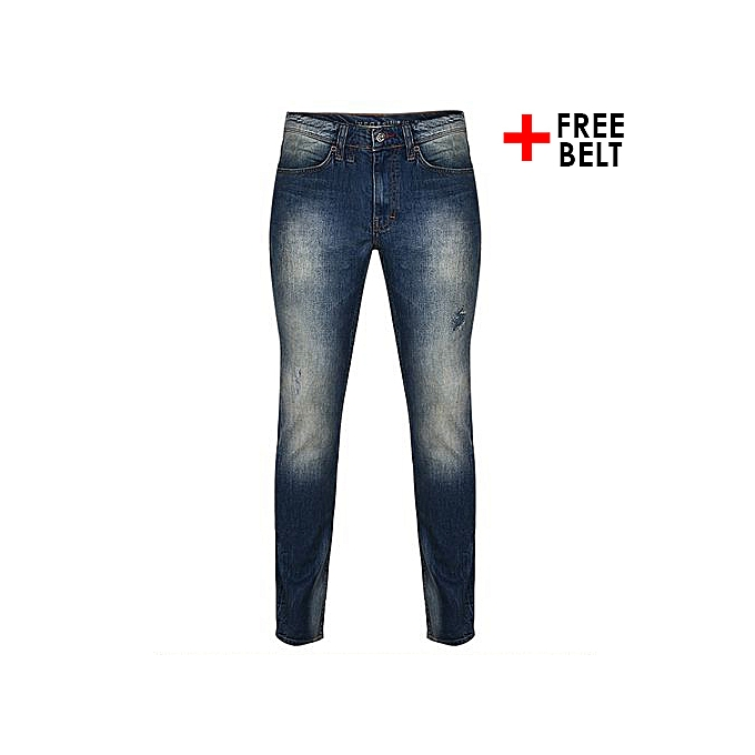 547ad01f58 Mustang Vegas Faded Slim Fit Jeans - Blue