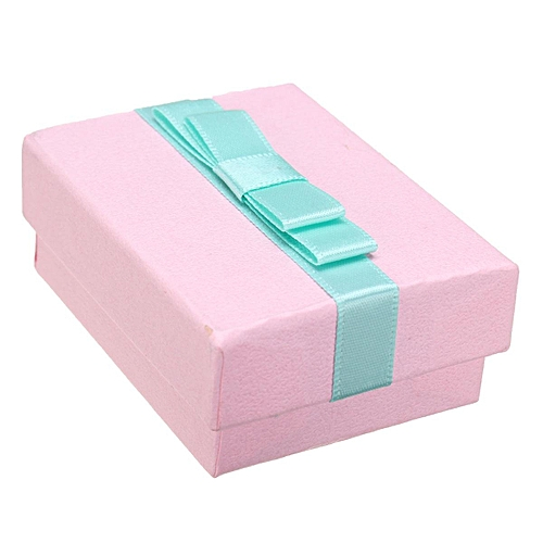 Paper Jewelry Ring Earring Necklace Gift Pearl Ribbon Present Box Case Storage