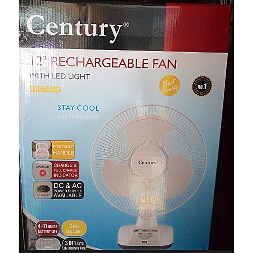 Rechargeable Table Fan - 12""