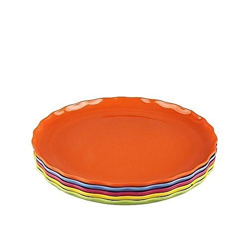 Plastic Flat Plates-Set Of 6