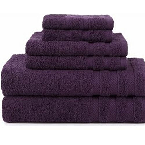Bath Towel Cotton - Purple (Extra Large, Large, Small)