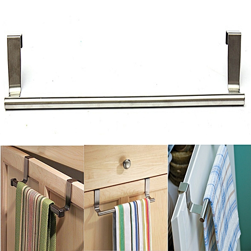 2Pcs Door Kitchen Bathroom Hanger Towel Scarf Holder Drawer Hook 36cm