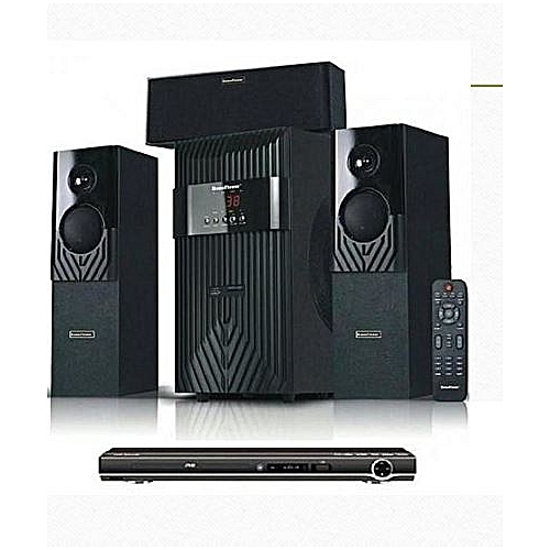 3.1Ch Heavy Duty Bluetooth Home Theatre System HF-1203 And Powerful DVD Player Attached
