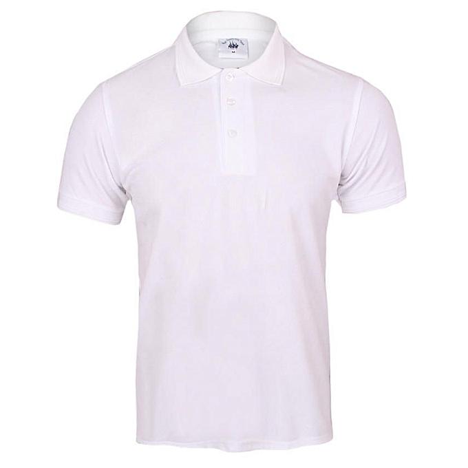 c4f1685535fa Royal Queen's Polo Team Men's Plain White Polo T-Shirt | Jumia NG