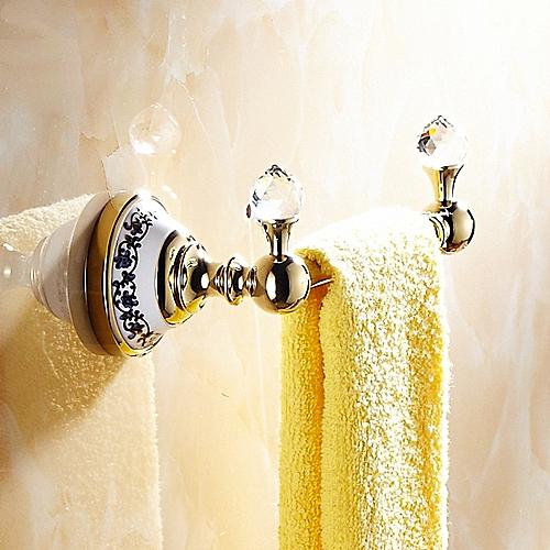 WANFAN 6318 Home Bathroom Decoration Luxury European Style Crystal Wall Towel Holder