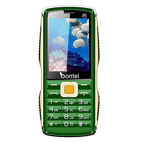 TV King-2 8Inch 10,000 MAh Power Bank Phone- Green