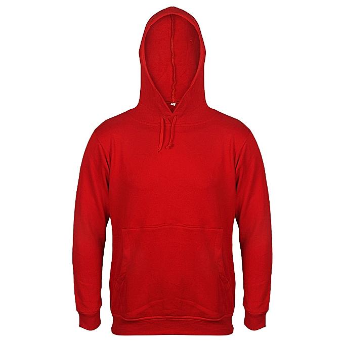 Danami Plain Hoodie- Red  330d2e5ae
