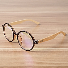 e9d7d5c8f33 Round Glasses Frame Clear Lens Optical Frames Vintage Eyeglasses Wooden  Bamboo Brown Leopard Eyewear Frames Spectacle