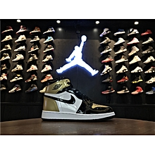 2018 Unisex Air Jordan 1 Retro High OG NRG Gold Top 3 Complexcon Limited Patent Leather 861428-001 EU36-45 for sale  Nigeria