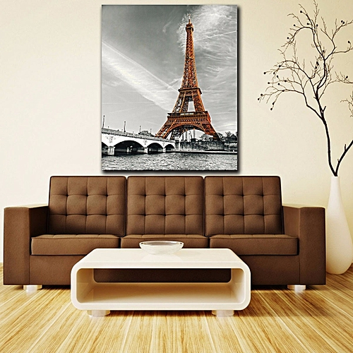 Modern Abstract Hand-painted Art Oil Painting Wall Decor Canvas No Frame(Eiffel Tower)