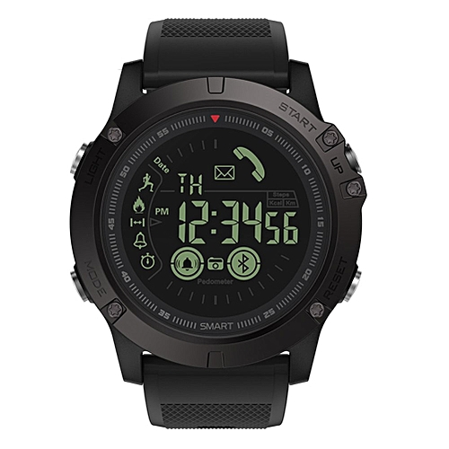 3 Men Smart Watch , T1 Tact Military Style Fitness Tracker Pedometer Smartwatch , Remote Camera Super Tough Watches(#Black)