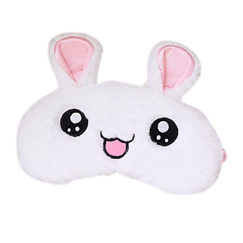 GB Cute Rabbit Sleep Eye Mask Relieving Fatigue Eyeshade Cold Hot Eyes Cover-white
