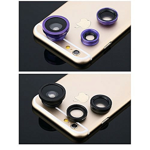 Applicable Mobile Phone Lens Phone Universal Clip Wide-angle Macro Three-in-one