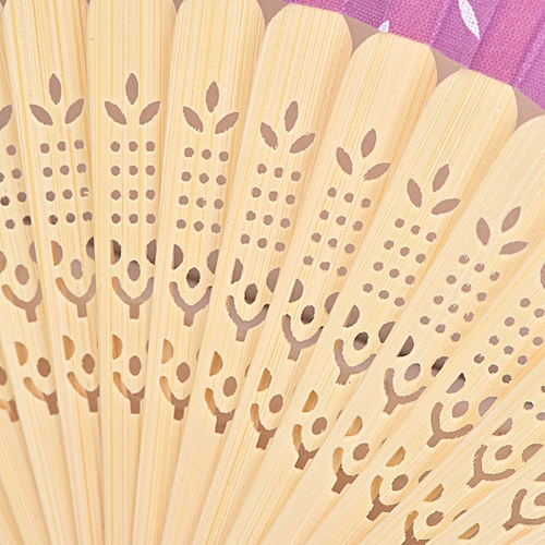 1Pc Retro Bamboo Folding Fan Handheld Flower Lace Fans Dancing Party Fans For Wedding Party Decor Supplies