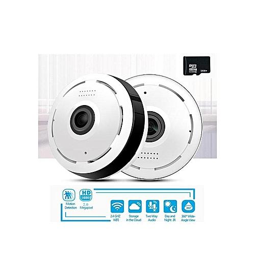 Wireless Wifi CCTV Camera 360 Degree Panoramic Fisheye 3D VR