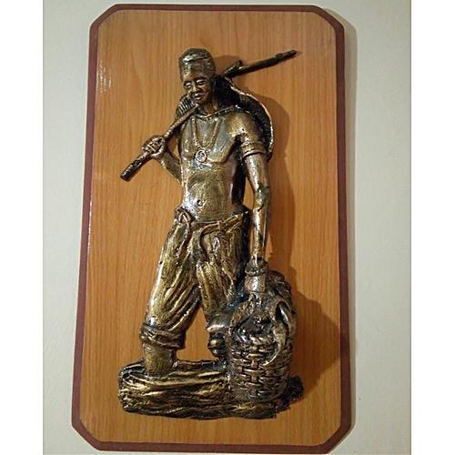 Handmade Art Work Of An African Hunter - Bronze