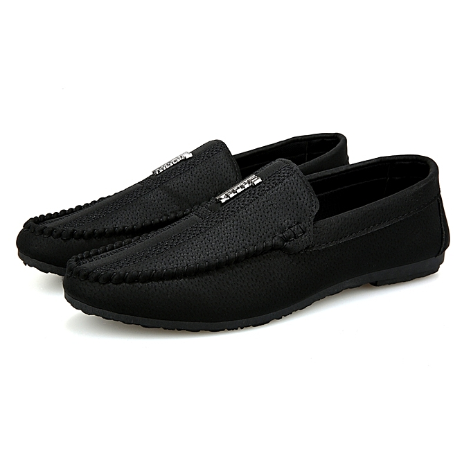 2d92f59df77190 Longo Men's Loafers Slip Ons Shoes-Black | Jumia NG