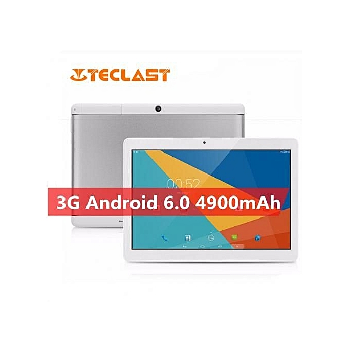 X10 10.1-Inch (1GB,16GB ROM) 5MP + 2MP, Android 6.0 OTG G-sensor 3G Tablet - White/Grey