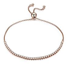 3dca72937 Valentine Day Gift 925 Sterling Silver Dazzling Gold Strand Bracelet Tennis Bracelet  Women Sterling Silver Jewelry