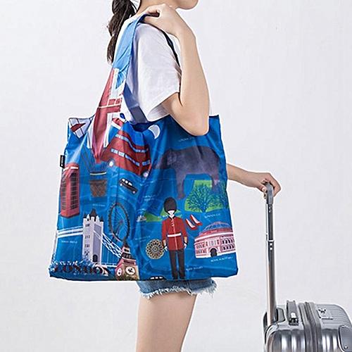 Eco Friendly Shopping Bags Waterproof Travel Custom Reusable Handbag Women Shoulder Cloth Pouch Foldable H03