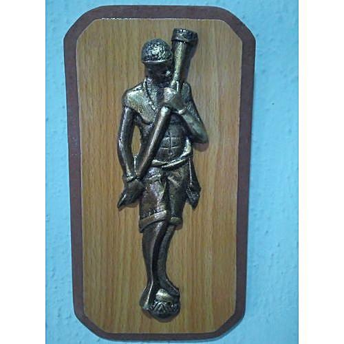 Handmade Art Work Of An African Warrior - Bronze
