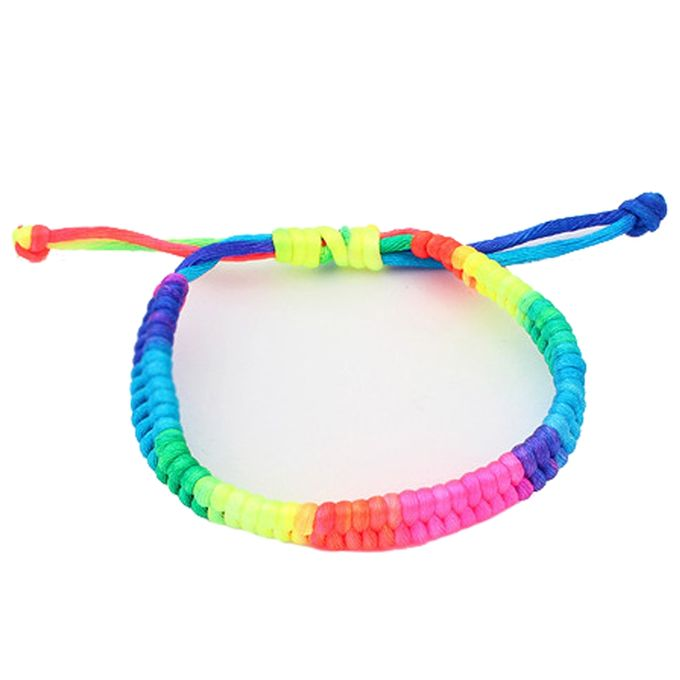 eissely adjustable rainbow fluorescent colors woven bracelet buy online jumia nigeria. Black Bedroom Furniture Sets. Home Design Ideas