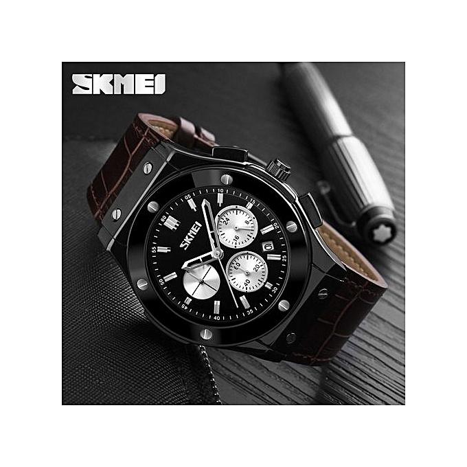 d6903a8f1 Skmei Skmei 9157 Luxury Chronograph Leather Watch   Jumia NG