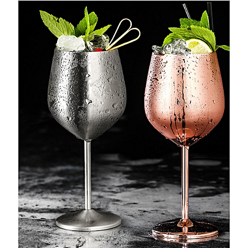 500ml Stainless Steel Wine Glass Unbreakable Shatterproof Champagne Goblet