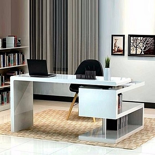 Handys - Office Desk-White (Delivery Within Lagos Only)