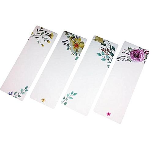 40Pcs/Set DIY Cute Creative Flower Paper Bookmarks Creative Vintage Word Card Office School Supplies New Year Christmas Card