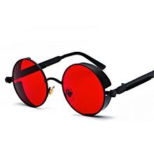325bfb5442 Metal Round Steampunk Sunglasses Men Women Fashion Summer 2018 Round Sun  Glasses For Women Unisex-