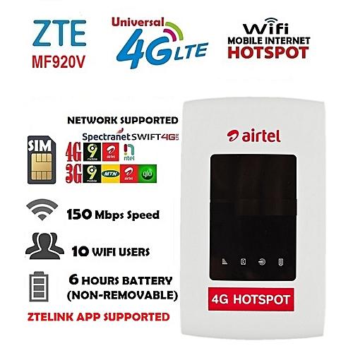 4G/3G LTE Mobile Internet Hotspot - 4G Of 9Mobile,Airtel,Ntel,Swift,Spectranet & 3G Of Glo,MTN