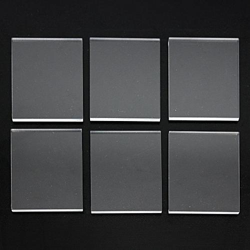 3mm 6 Packs Set Acrylic Transparency Stamping Rubber Plexiglass Thin Blocks New