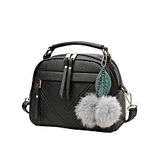791b38ad29a0 Hiamok Hair Ball Pendant Fashion Handbag Shoulder Messenger Bag Ladies Bag  BK
