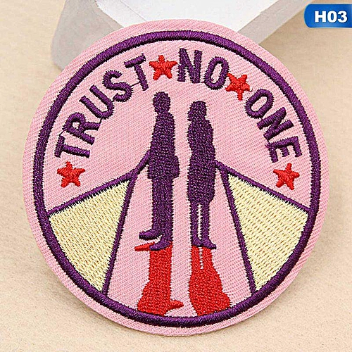 Eleganya Fashion Circular Creativity Exquisite Cute Style Embroidery Cloth Stickers H03