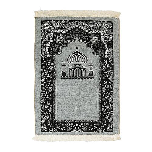 70x110cm Ramadan Islamic Muslim Prayer Rug Carpet Mat Mosque Chenille Tassel
