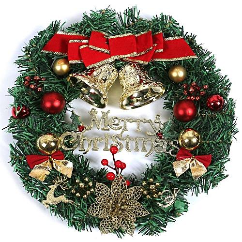 Wreath Window Christmas Door Decoration Hanging Ornament Tree Garland Bell