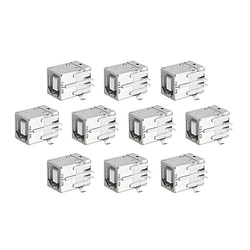 10pcs BF 90Degree Type B USB Printer Port Socket Connector Charging Socket USB Socket Interface
