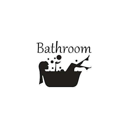 Jummoon Shop Bathroom Removable Art Vinyl Mural Home Room Decor Wall Stickers