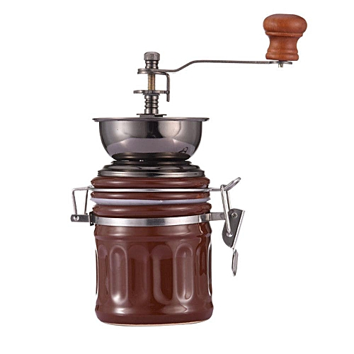 Manual Brown Coffee Grinder Small Household Grinder Hand Coffee Machine
