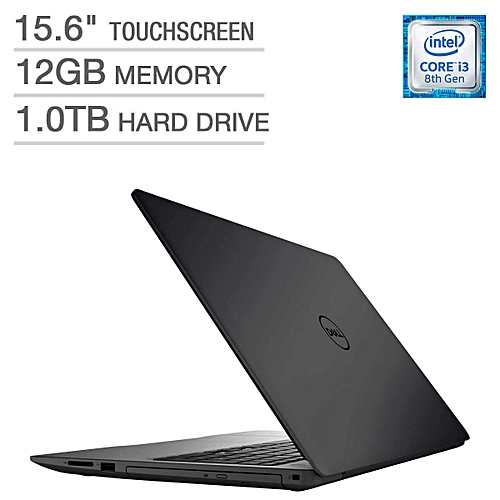 Inspiron 15-Intel Core I3, 12GB RAM,1TB HDD,Touch, Windows 10 +BAG AND FLASH