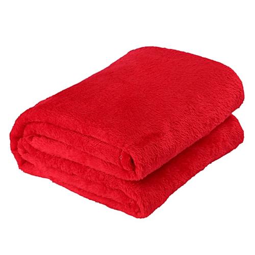 Solid Color Flannel Coral Blanket Plain Color Velvet Blanket Knee Blanket Red