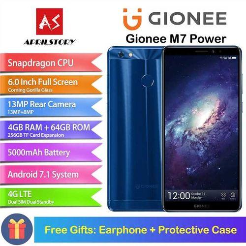 Gionee M7 POWER 4GB RAM 64GB ROM 6.0 Corning Gorilla Glass 3 Full 5000mAh 4G LTE
