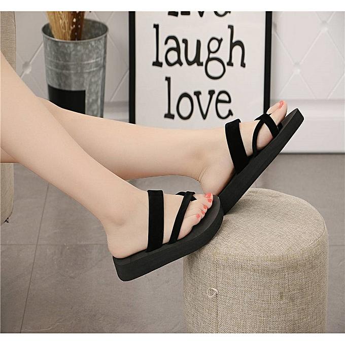5ed5610f2633e1 Generic Flat Shoes Ladies Slippers Women Flip Flops Sandals