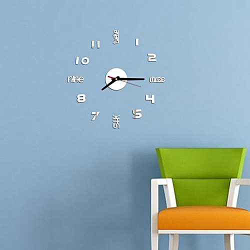Dtrestocy Mini DIY Wall Clock 3D Sticker Design Home Office Room Decor